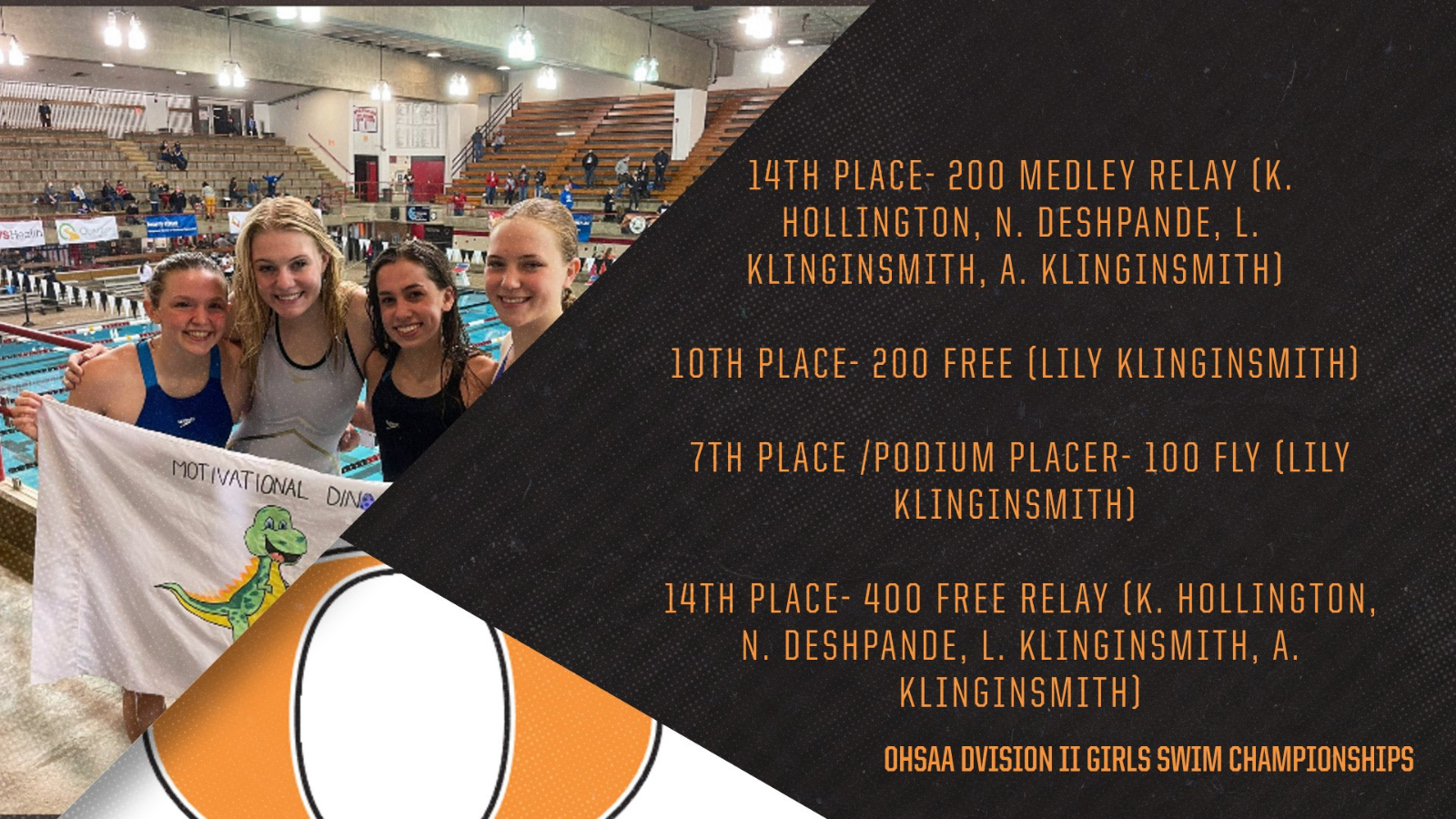 OHS Girls Swim Finishes Season Strong at OHSAA D2 Swim Championship