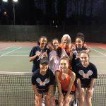 Girls Varsity Tennis beats The Lovett School 3 – 2