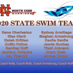 NCHS State Swim Team at GHSA Championships Feb 7 & Feb 8, 2020