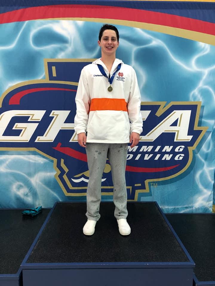 Swim & Dive Team Senior Dane Charleston, 2021 State Champion in IM