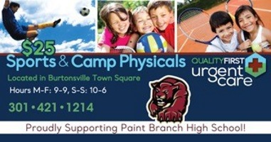 Get your Physicals NOW for Sports