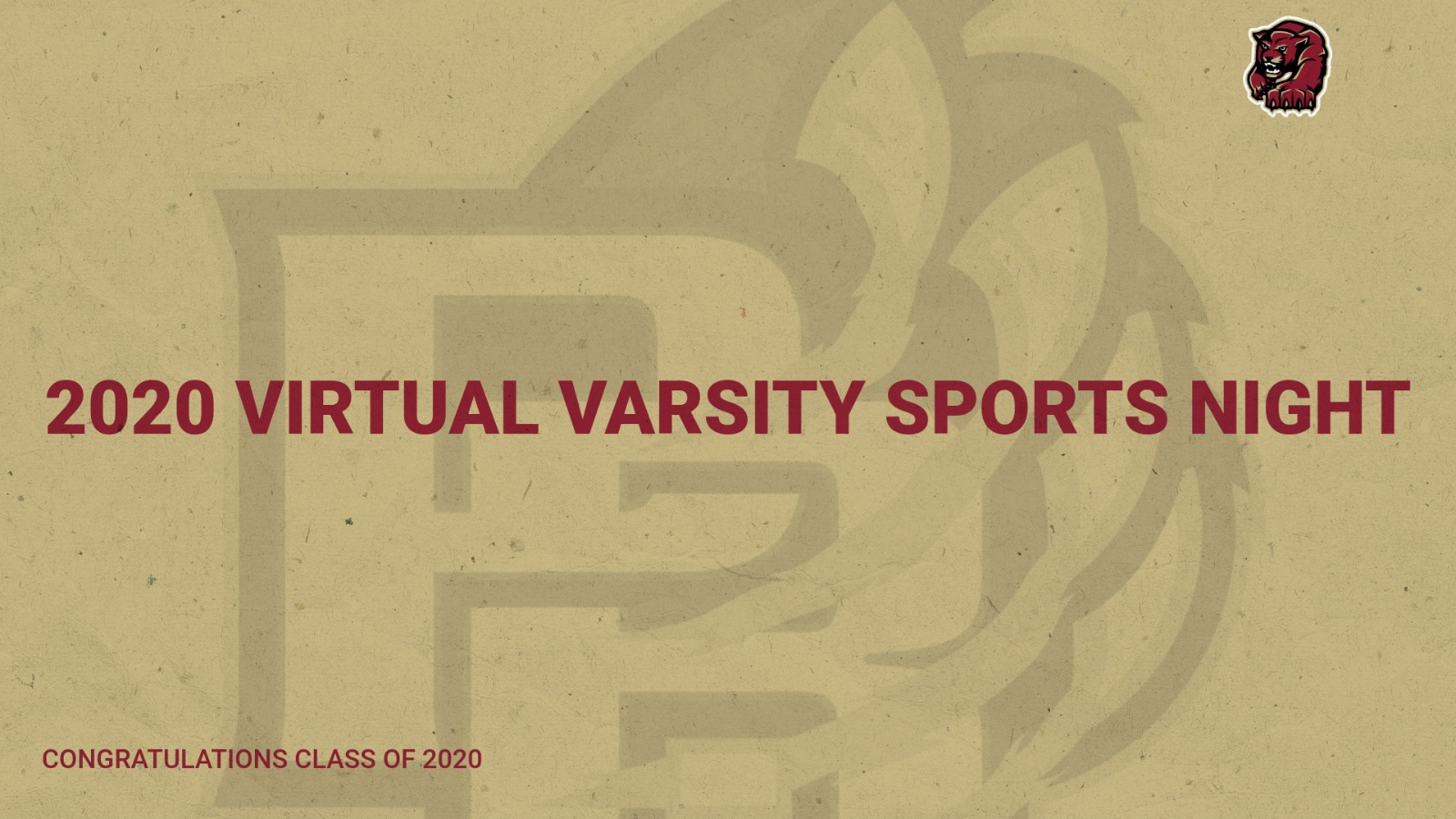 2020 Varsity Sports Night Virtual Video