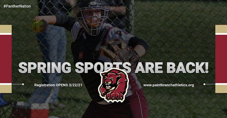 Spring Sports Registration open until 4/14!