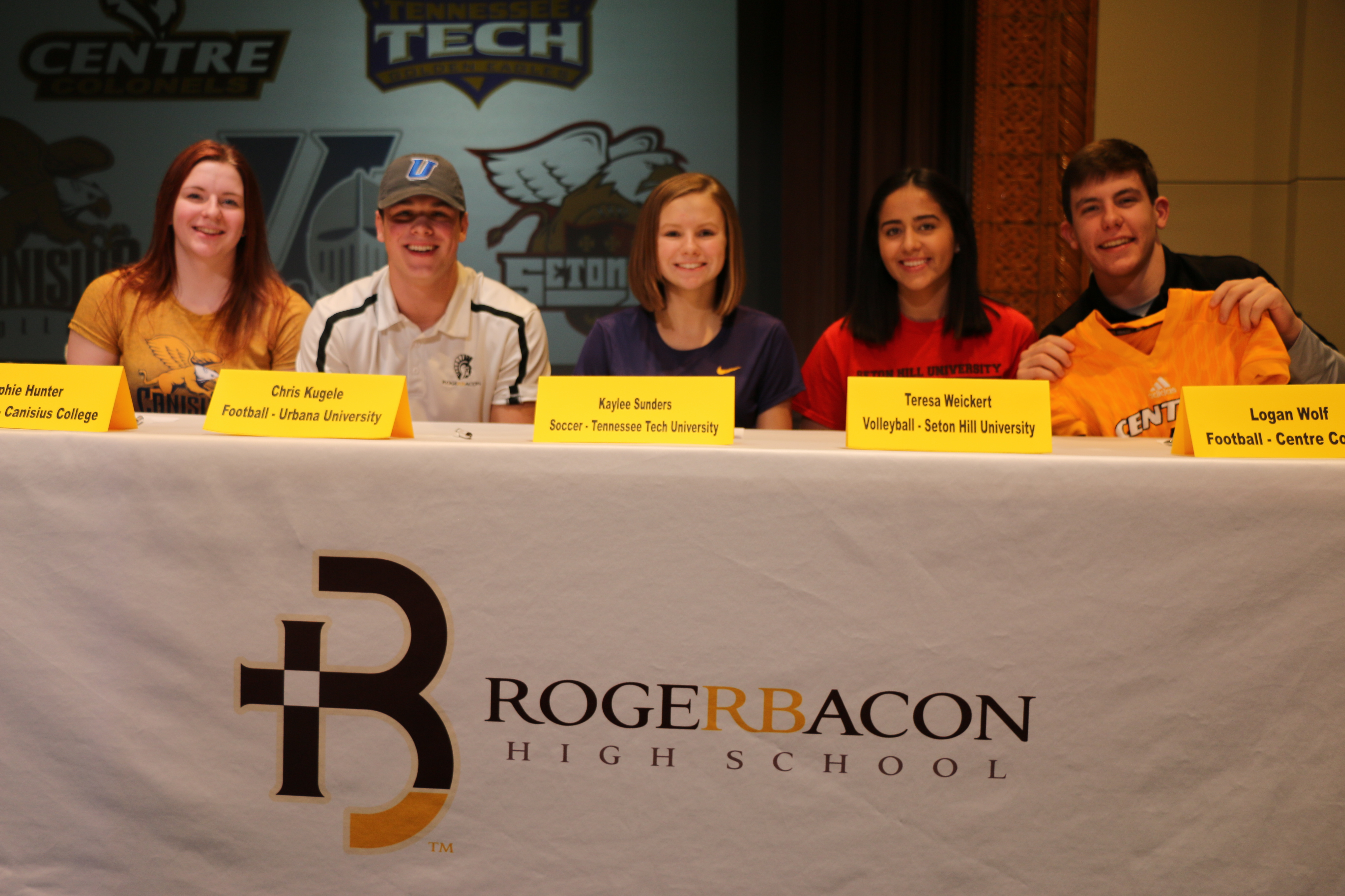 Five Spartans sign to compete at the next level