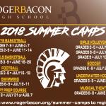2018 Summer Camps!