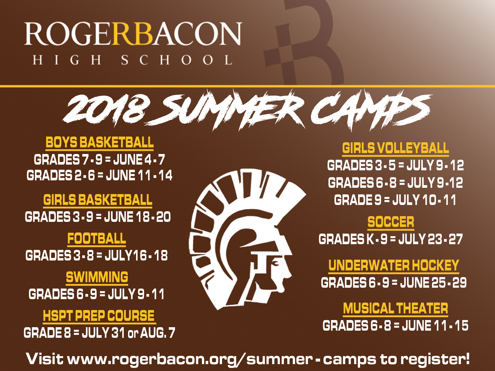 2018 Summer Camps!