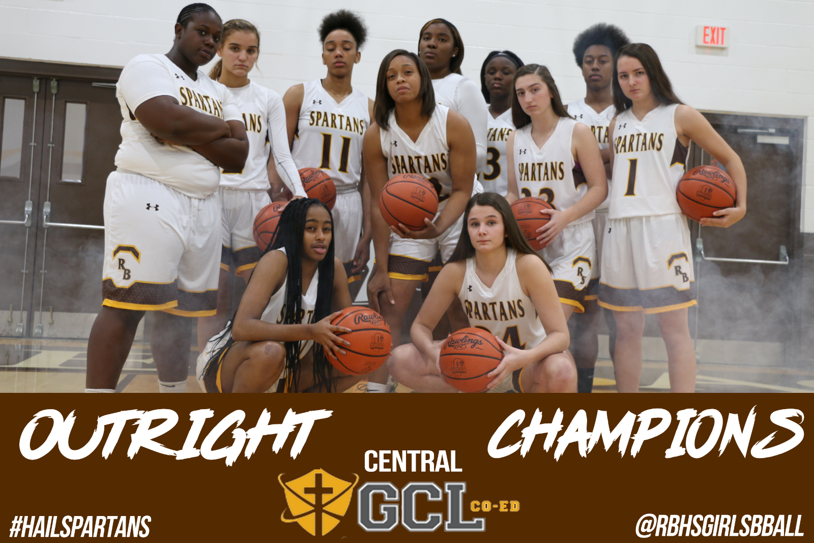 Girls basketball crowned division champs!