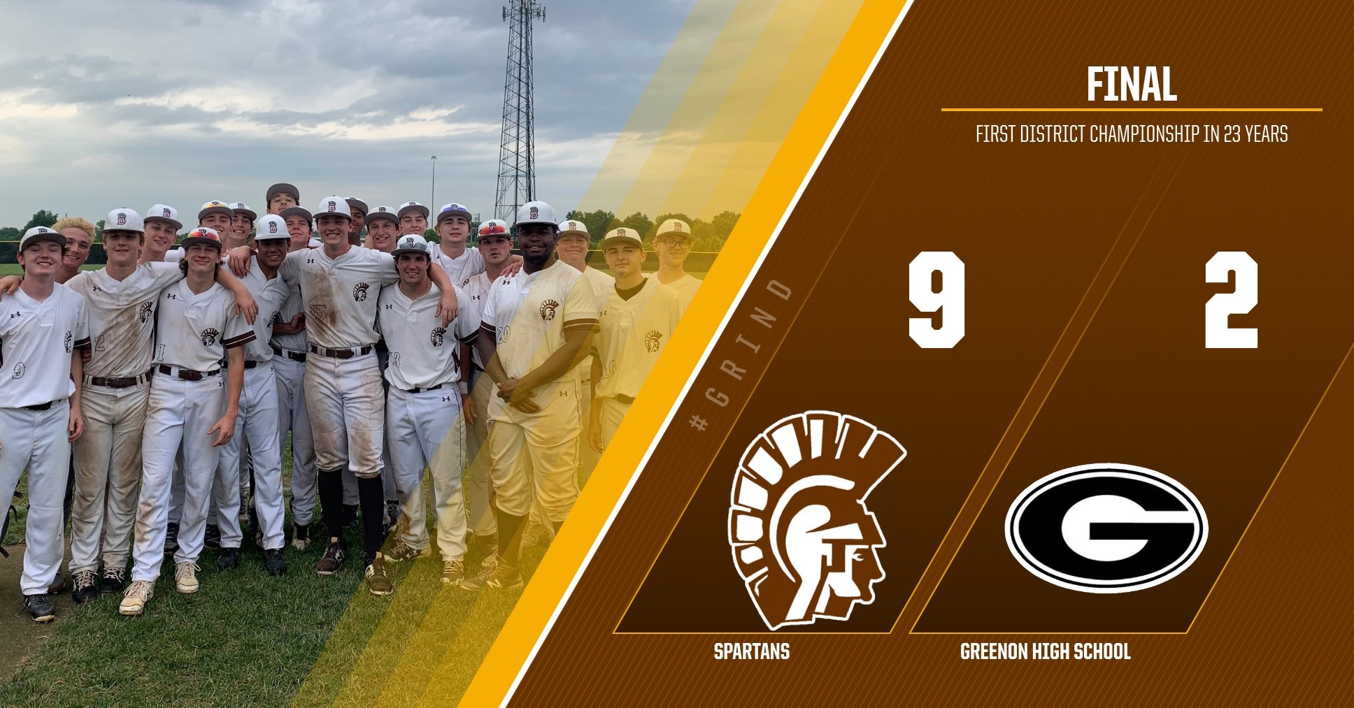 Spartans clinch first district title in 23 years
