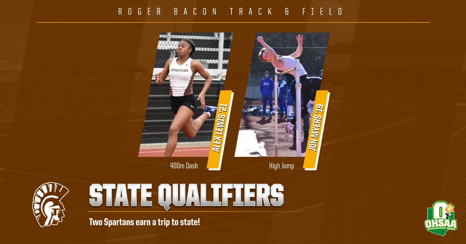 Myers '19 and Lewis '21 are headed to STATE!