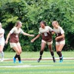 Girls Soccer Varsity battles to a 2-1 victory over Newport Central Catholic