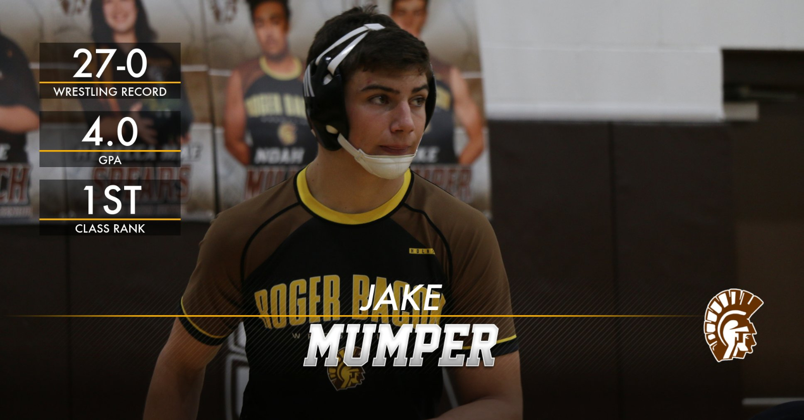 Jake Mumper '20 leads way on and off the mat
