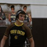 Jake Mumper '20 is grateful for the opportunity to wrestle at Roger Bacon