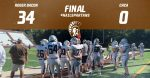 JV Football completes sweep of CHCA
