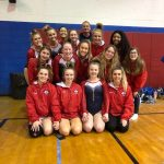 Girls Varsity Gymnastics finishes 3rd place at Marysville High School