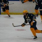 Hudsonville High School Boys Varsity Hockey falls to Kalamazoo Eagles 2-5