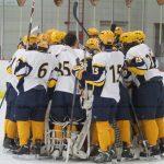 Hudsonville High School Boys Varsity Hockey beat Bishop Foley Catholic High School 4-1