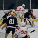 Hudsonville High School Boys Varsity Hockey falls to Portage Northern High School 4-6