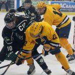 Hudsonville High School Boys Varsity Hockey falls to Jenison High School 2-10