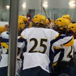Hudsonville High School Boys Varsity Hockey beat GR Flames 8-0