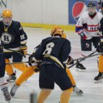 Hudsonville High School Boys Varsity Hockey falls to Kalamazoo United 1-7