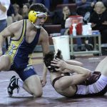 Eagle Wrestling Battles Hard in Defeat Against Grandville