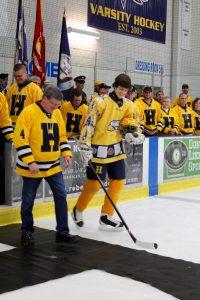 Hudsonville Hockey Military Appreciation Night 2/19/16