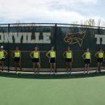 Varsity Tennis girls get recognition.