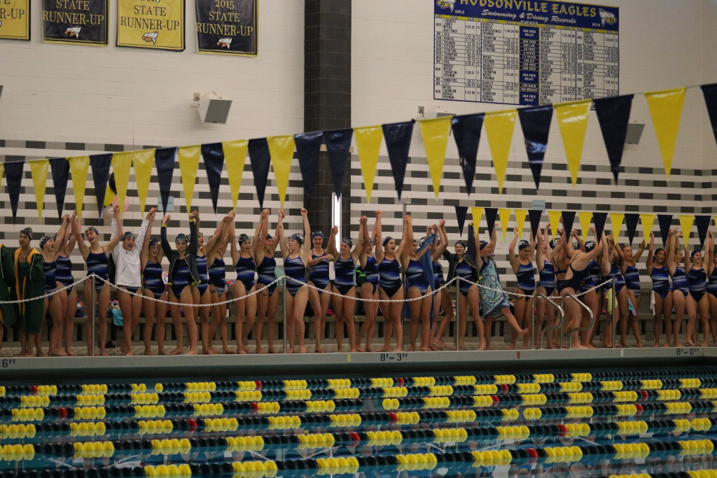 Girl's Swim and Dive Team Finishes 9th at State Finals
