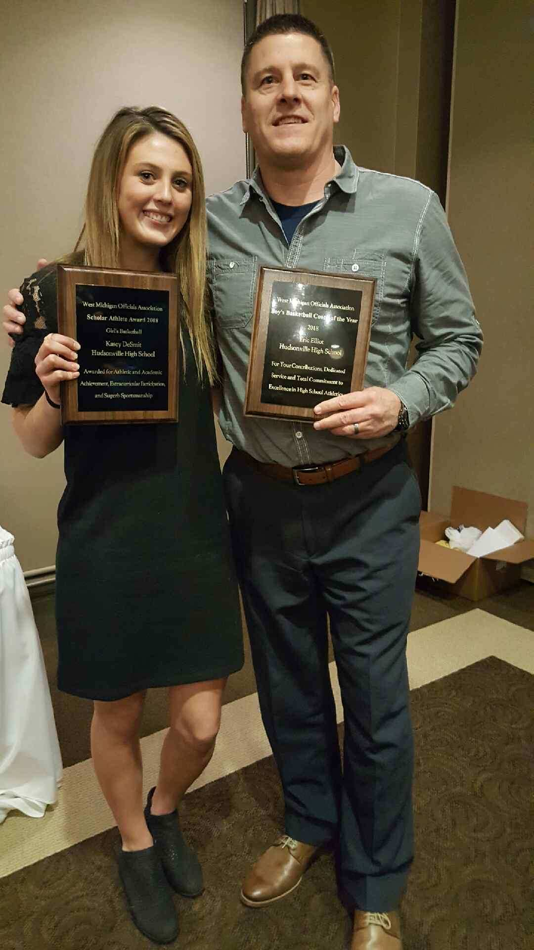 Kasey DeSmit and Eric Elliot Honored by the West Michigan Officials Association