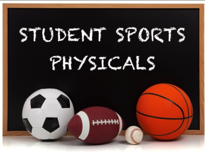 Athletic Physicals Monday, June 3