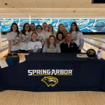 Addie Gilliam signs to bowl for Spring Arbor