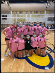 Varsity volleyball sweeps Pink Out