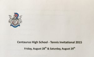 2015 CENTAURUS TENNIS INVITATIONAL