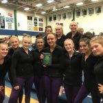 Girls Varsity Gymnastics finishes 2nd place at Invitational @ Overland High School