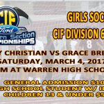 Girls Soccer CIF Finals