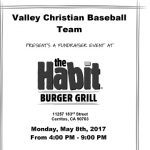 Baseball Habit Burger Fundraiser