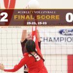 Girls JV Volleyball Defeats Whittier Christian