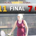 Girls Varsity Tennis Defeats Whittier Christian