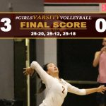 Girls Varsity Volleyball Defeats Maranatha