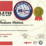 Madison Holmes Selected Player of the Week