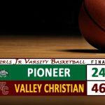 Girls JV Basketball Defeats Pioneer