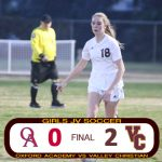 Girls JV Soccer Defeats Oxford Academy