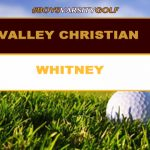Boys Varsity Golf Defeats Whitney