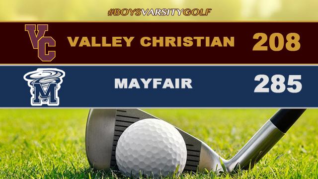 Boys Varsity Golf Defeats Mayfair