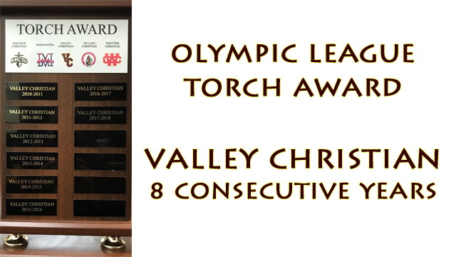 VC Wins 8th Consecutive Torch Award
