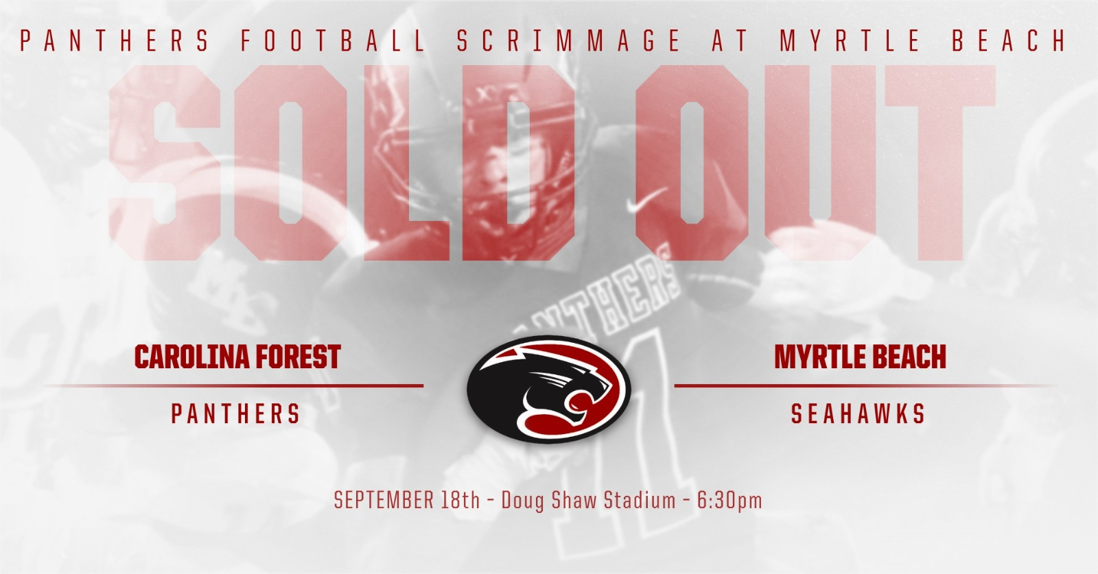 Panthers at Myrtle Beach High School Football Scrimmage- Sold Out