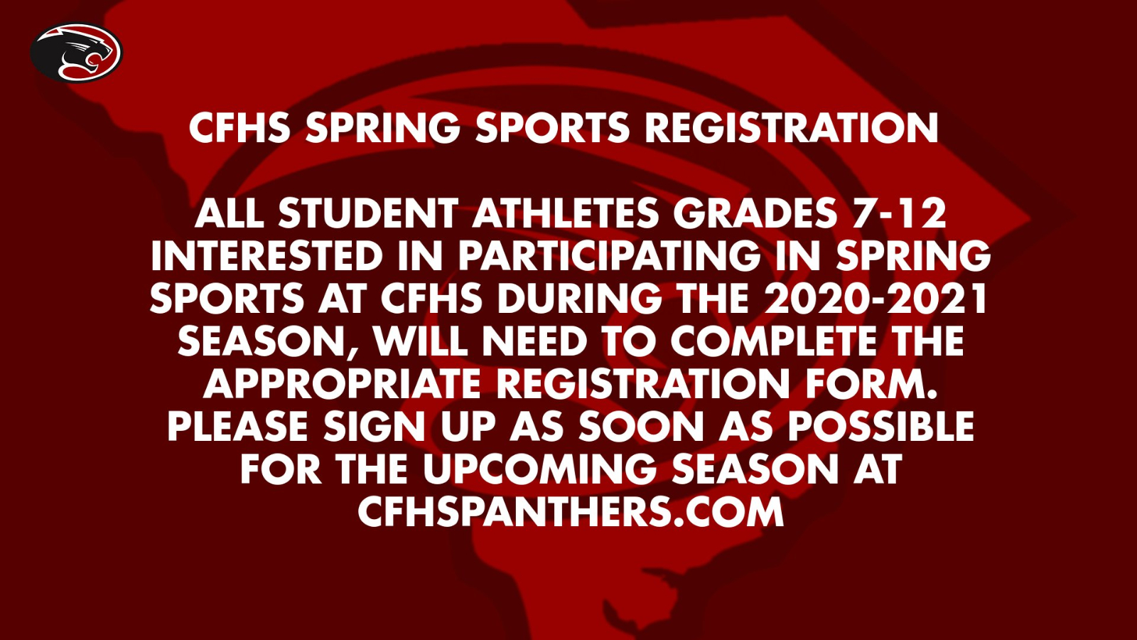 Carolina Forest Spring Sports Registration