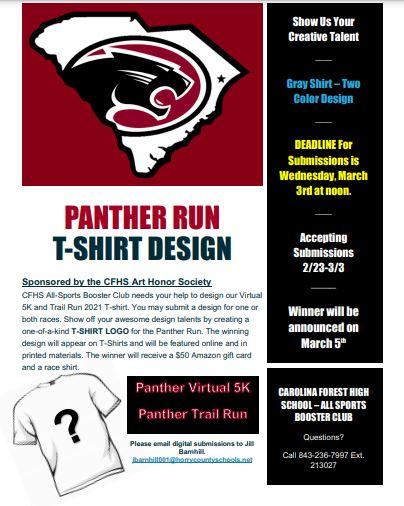 Panther Run T-Shirt Design