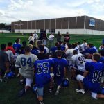 Simon Fletcher visits Trojan Football