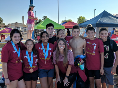 Varsity Swim Women Place 5th, Men Take 10th at First Swim State Championship for Cicero!